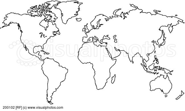 World map outlines vector black and white image stock photos world map outlines vector black and white image stock photos gumiabroncs Gallery