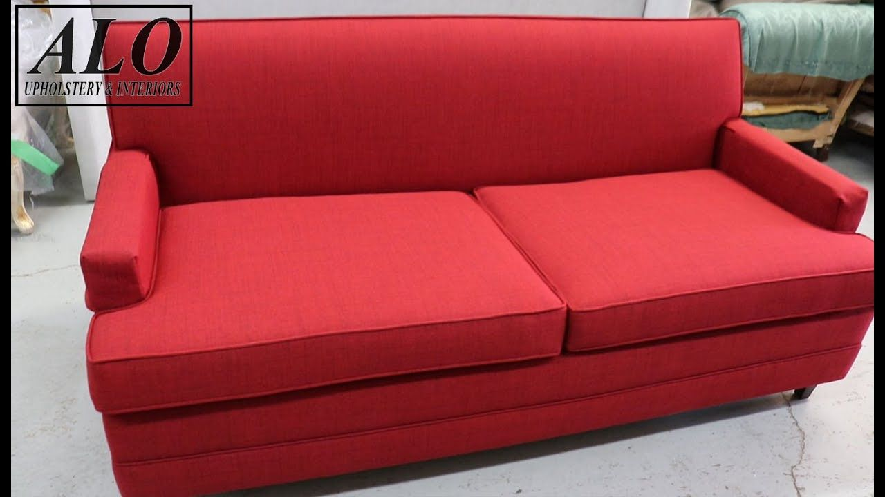 How To Reupholster A Sofa Bed Alo Upholstery Youtube With Images Sofa Couch Bed Reupholster Upholstery