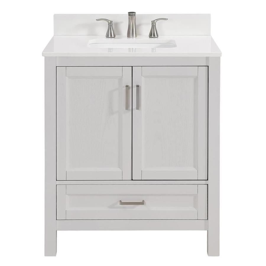 Scott Living Durham White Undermount Single Sink Bathroom Vanity With Engineered Stone Top Co Bathroom Sink Vanity Single Sink Bathroom Vanity Bathroom Vanity