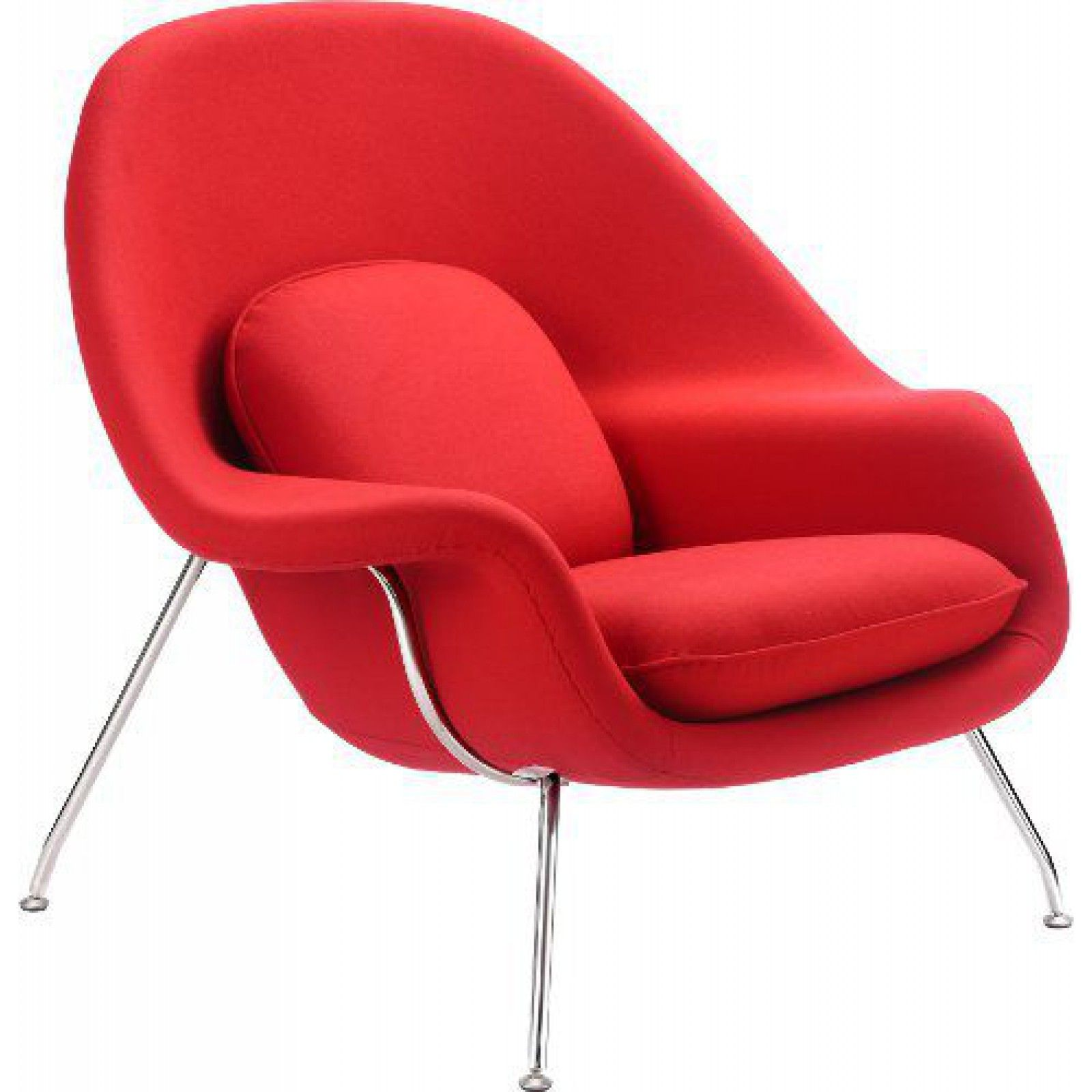 Eeeo Saarinen s Womb Chair Replica in red cashmere WombChair
