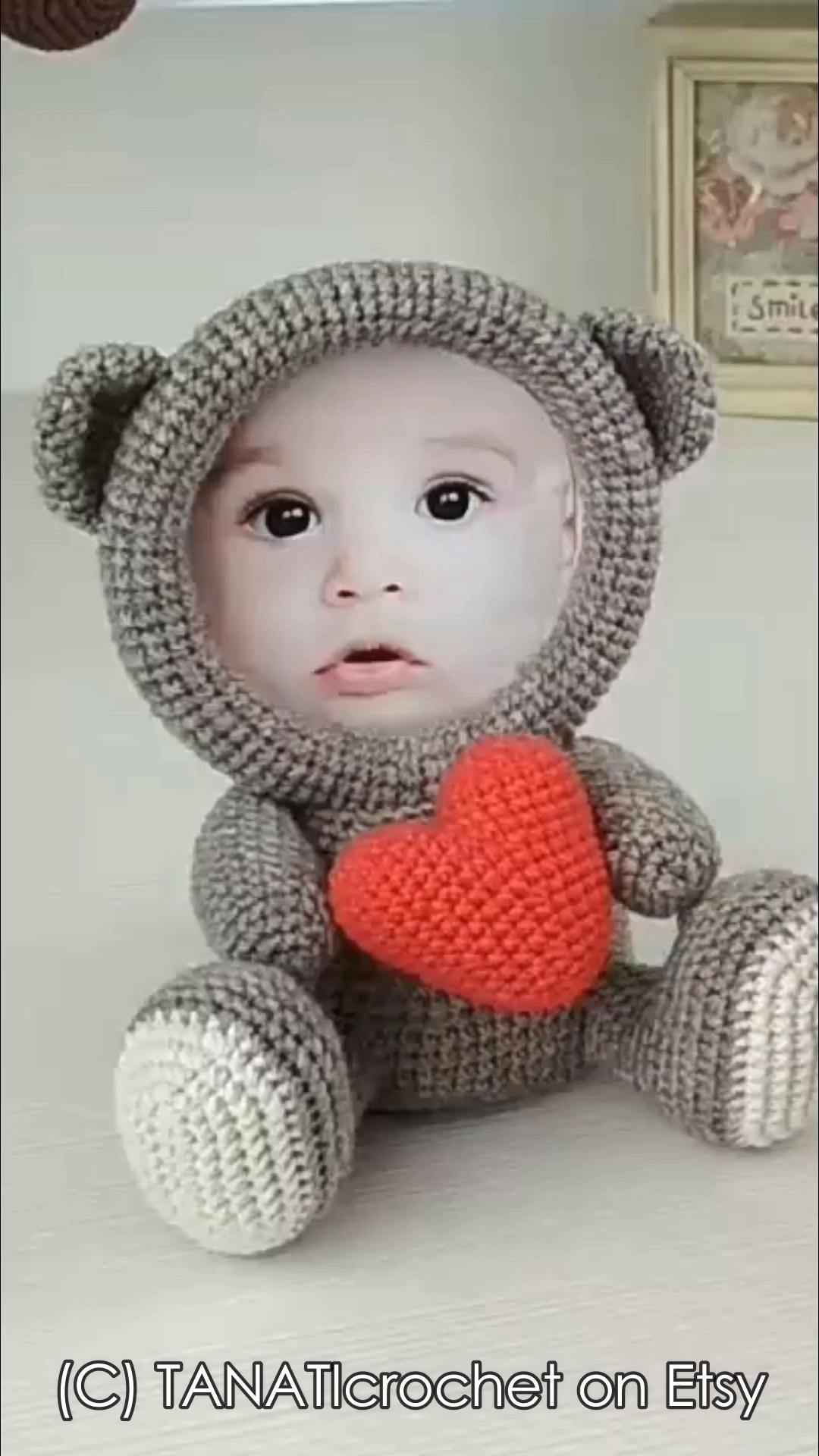 Crochet Photo Frames Pattern #muñecosdeganchillo