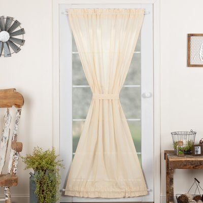 Astoria Grand Devid Door Solid Sheer Rod Pocket Single Curtain Panel Curtain Color Natural Panel Curtains Curtains Colorful Curtains