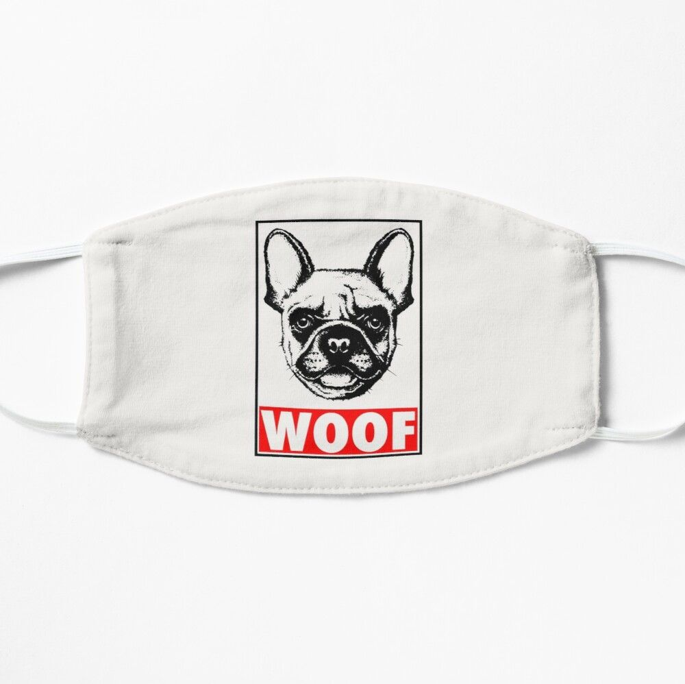 Woof Frenchie French Bulldog Mask By Printmellctx In 2020 French Bulldog Bulldog Woof
