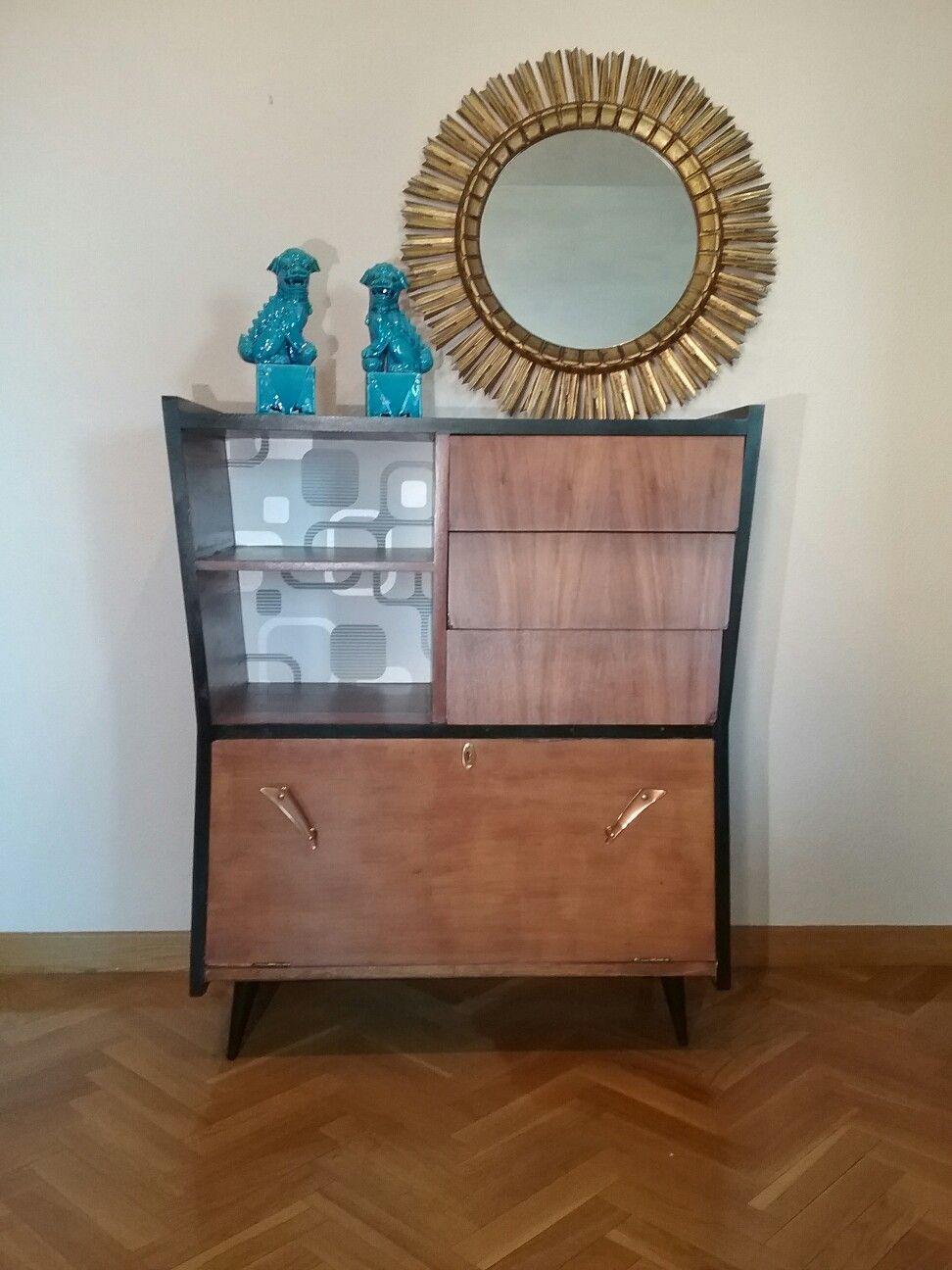 Aparador mueble bar vintage España Circa años 50 Restaurado Diseño ...