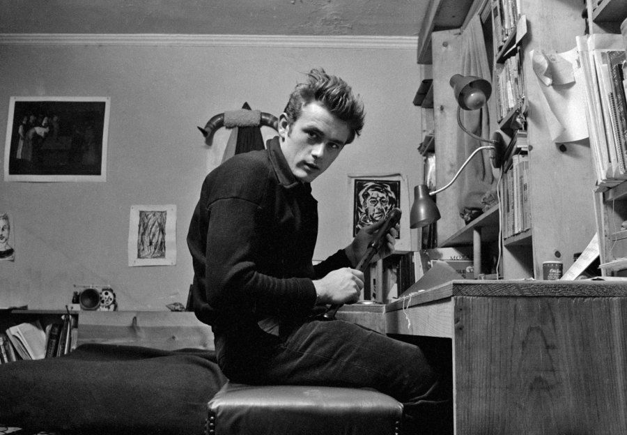 james dean in his apartment 19 west 68th street new york