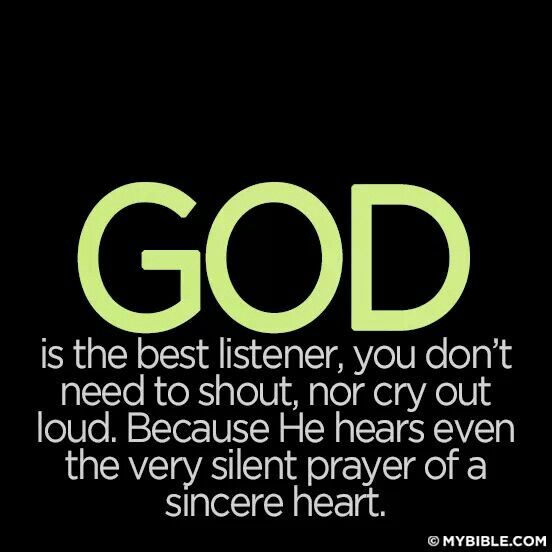 The Lord hears our prayers!