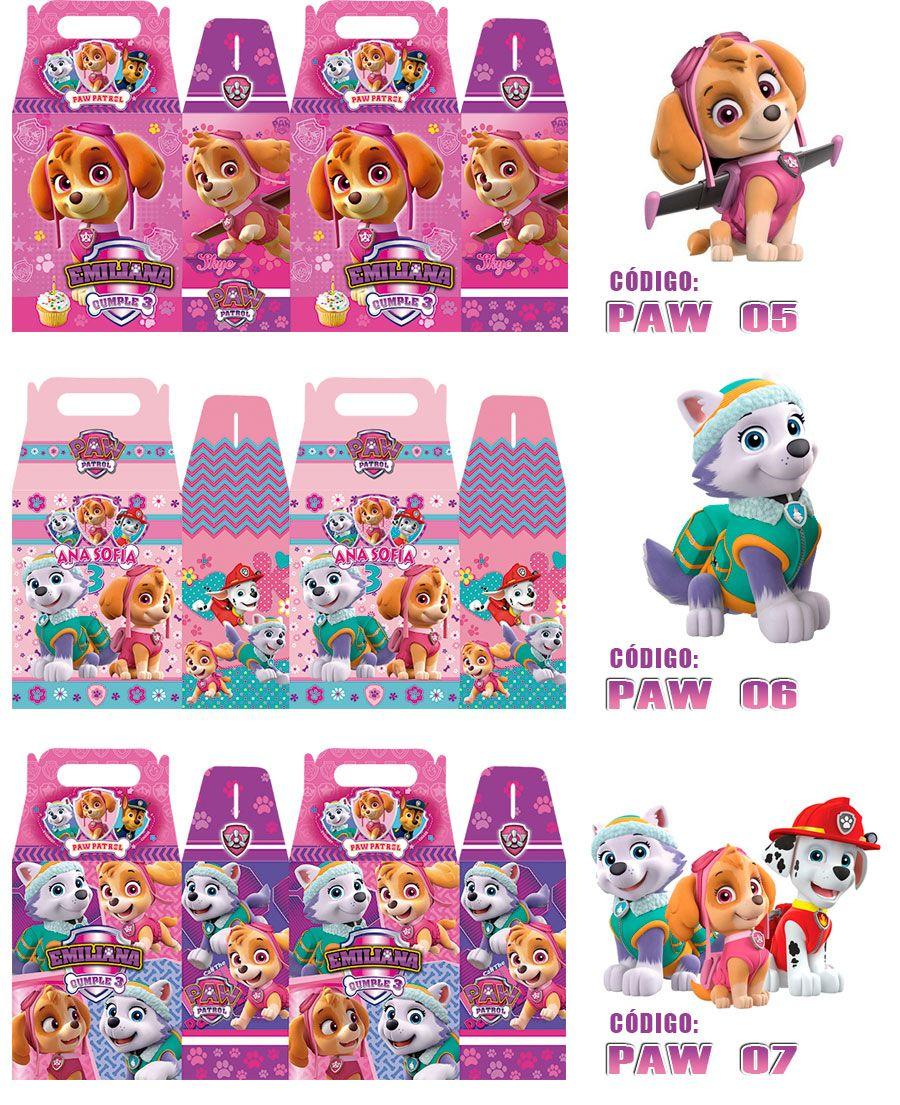 Preferenza dulceros cajitas personalizados paw patrol niñas | fiesta patrulla  JD12