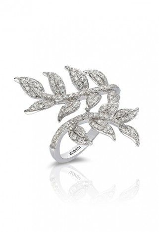 Pave Classica 14K White Gold Diamond Ring, .50 TCW