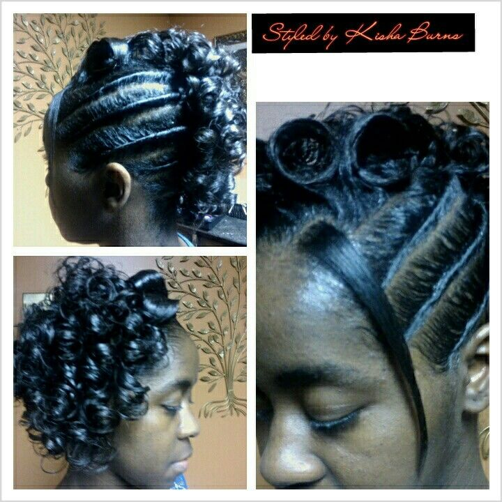 Twist And A Roller Set Hair Styles Roller Set Hairstyles Hair Updos