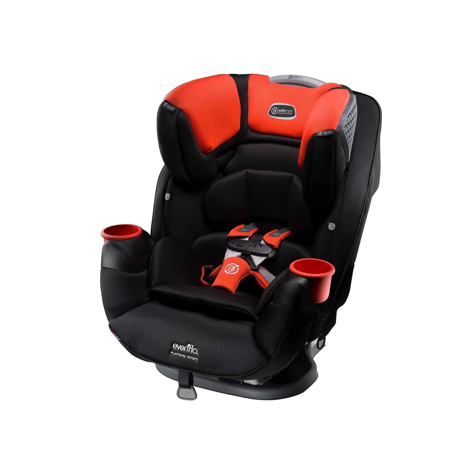 Evenflo Platinum SafeMax All In One Convertible Baby Infant Car Seat Orange