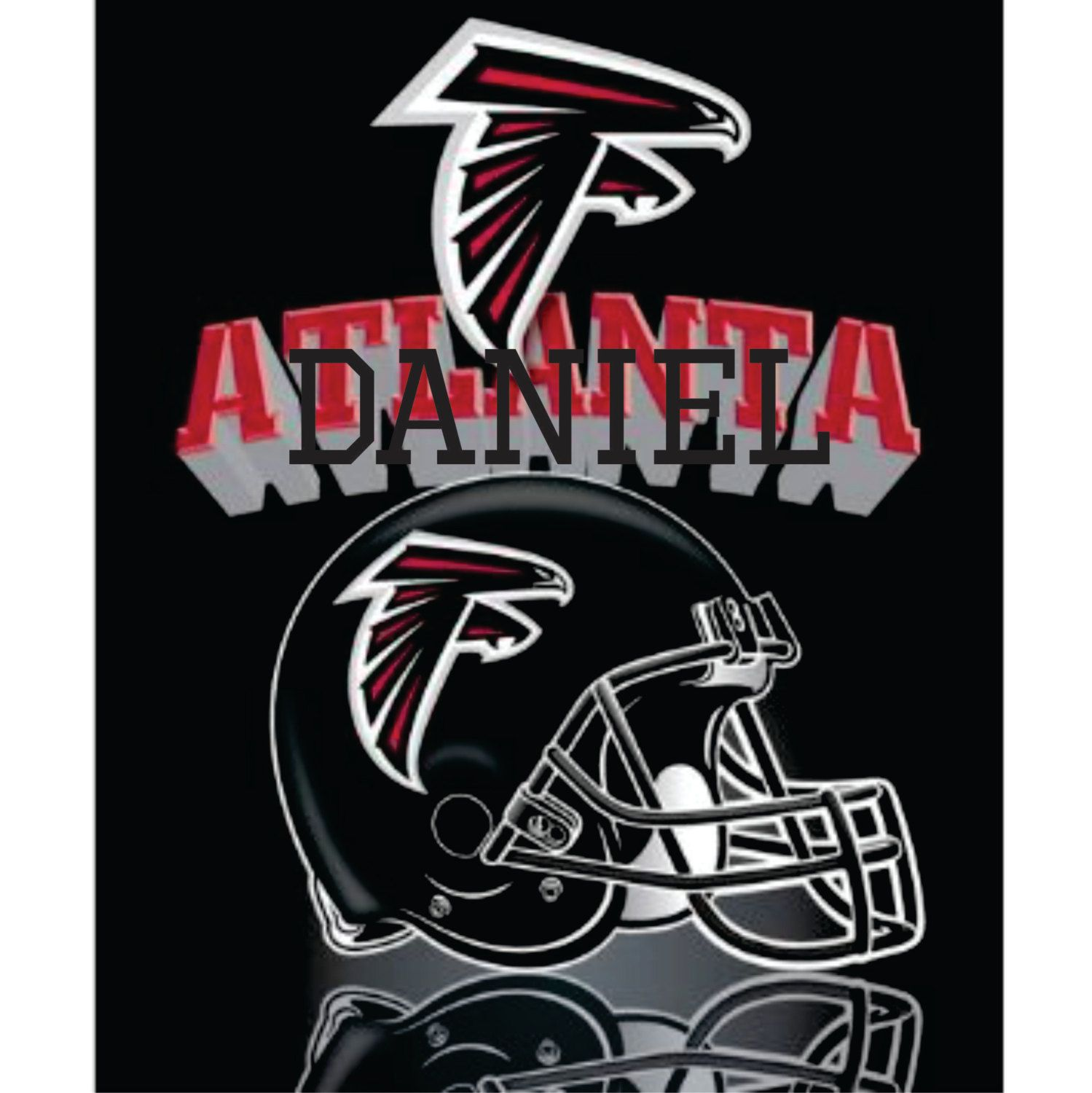 Personalized Nfl Atlanta Falcons Fleece Blanket Atlanta Blanket Personalized Gift Football Blanket Throw Atlanta Falcons Falcons Atlanta