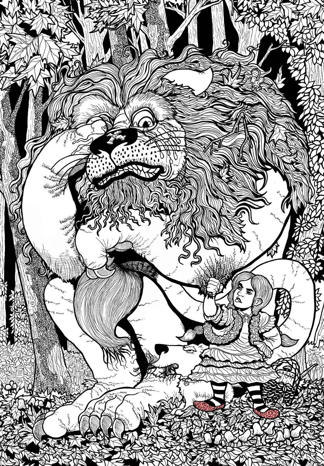 Wizard Of Oz Coloring Book By Ethan Mongin At Coroflot Com Monster Coloring Pages Coloring Books Wizard Of Oz