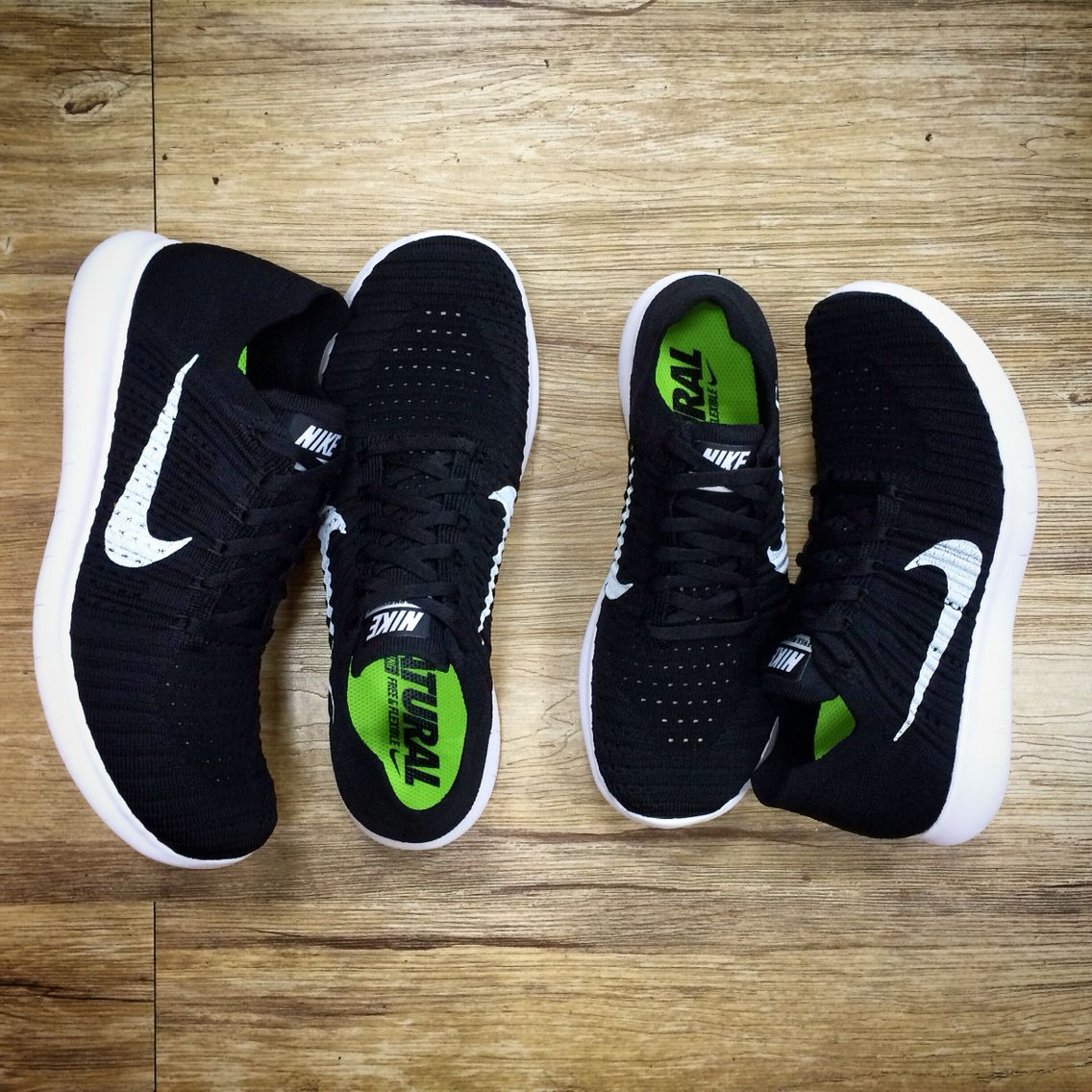 Nike Free RN Flyknit Run Black White Mens Running Shoes Trainers 831069-001