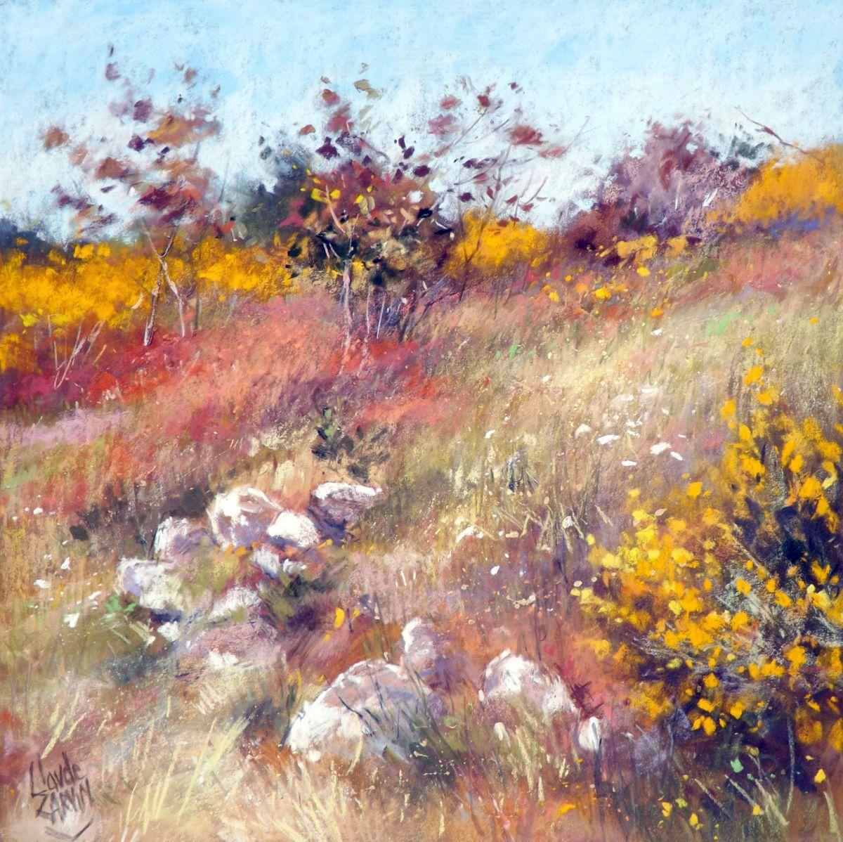 Parfum De Gen Ts Peinture 40×40 Cm Par Claude Carvin Pastel Sec