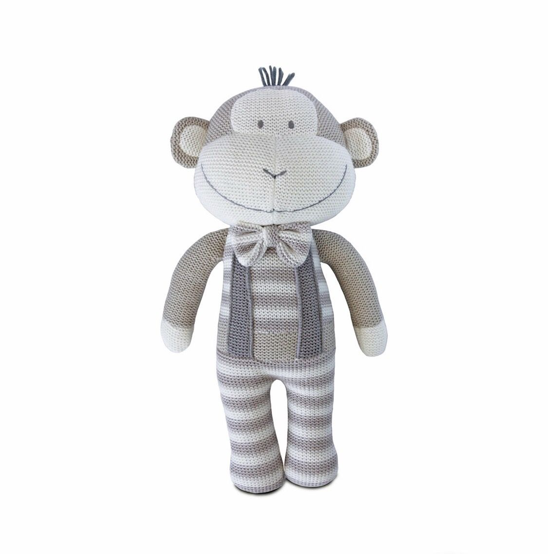 Living Textiles Knitted Toy Joe Monkey 37 Cm In 2020 Spielzeug