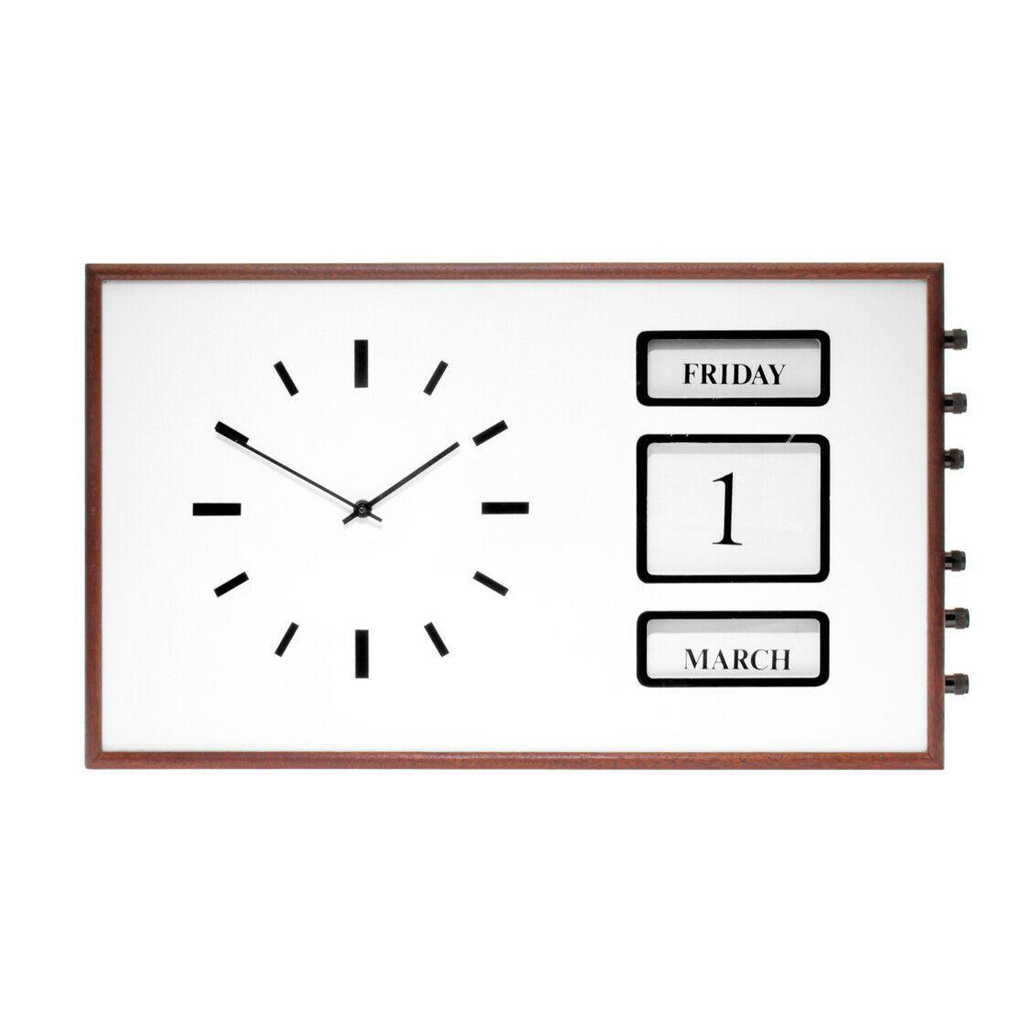 Horloge De Bureau Originale détails sur vintage 1960 s grand teak bureau horloge murale