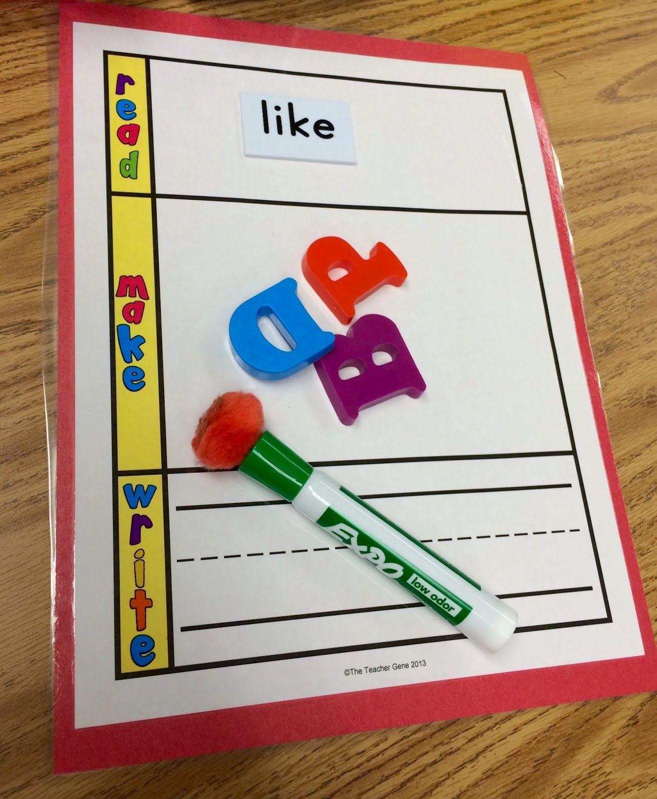 Kindergarten Is Crazy Fun Kindergarten Word Building Activities For Literacy Stations
