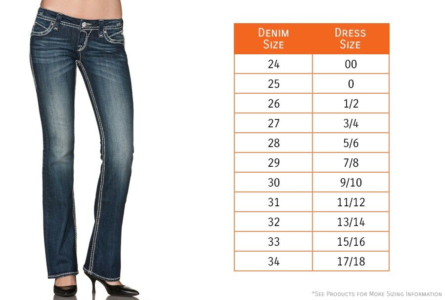 Rock Revival jeans size chart in 2019 Clothing size