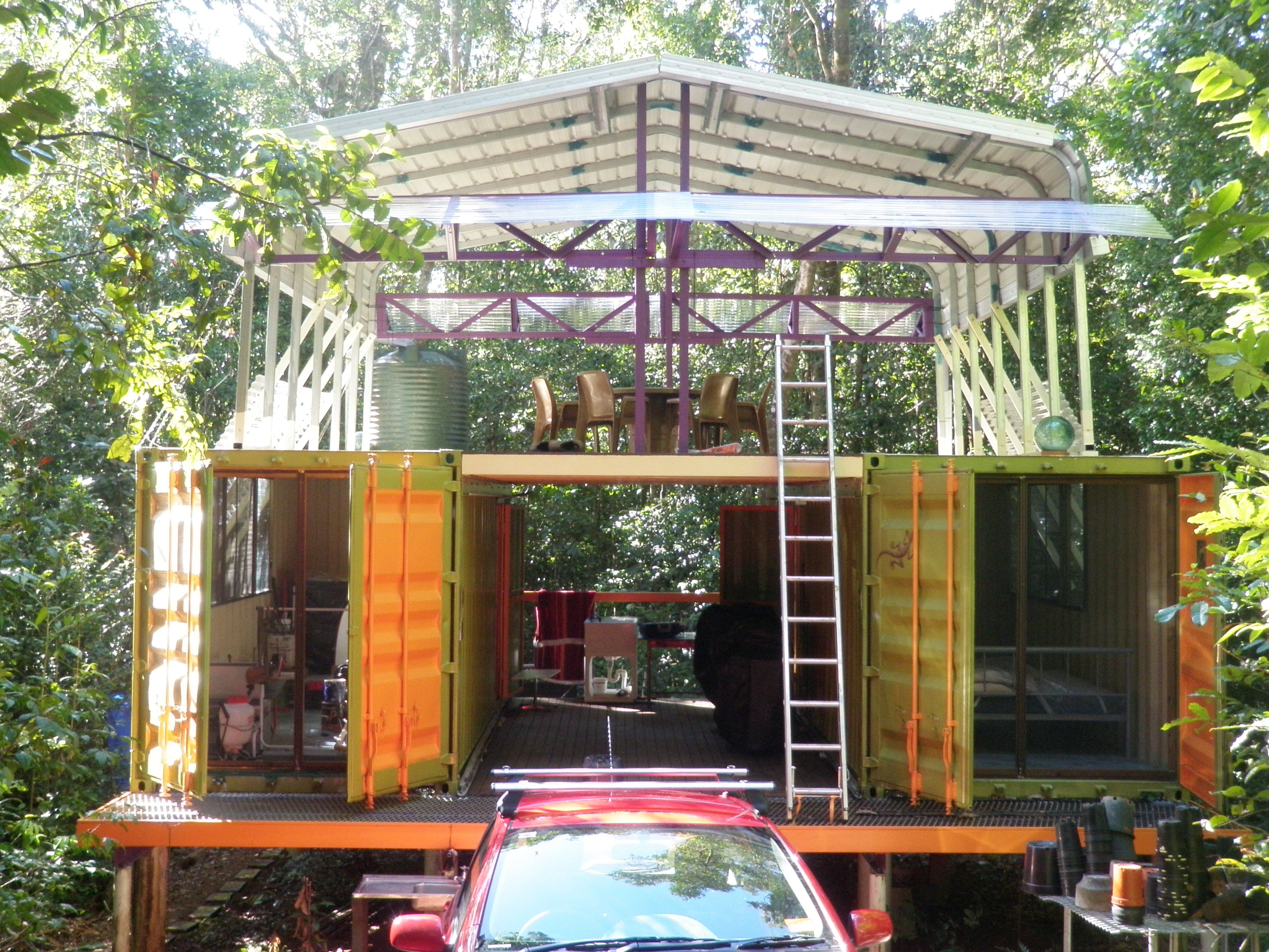 Diy cargo container house