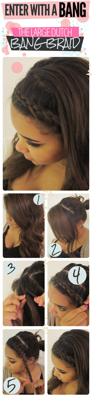Large dutch bang braid beauty pinterest bang braids bangs and