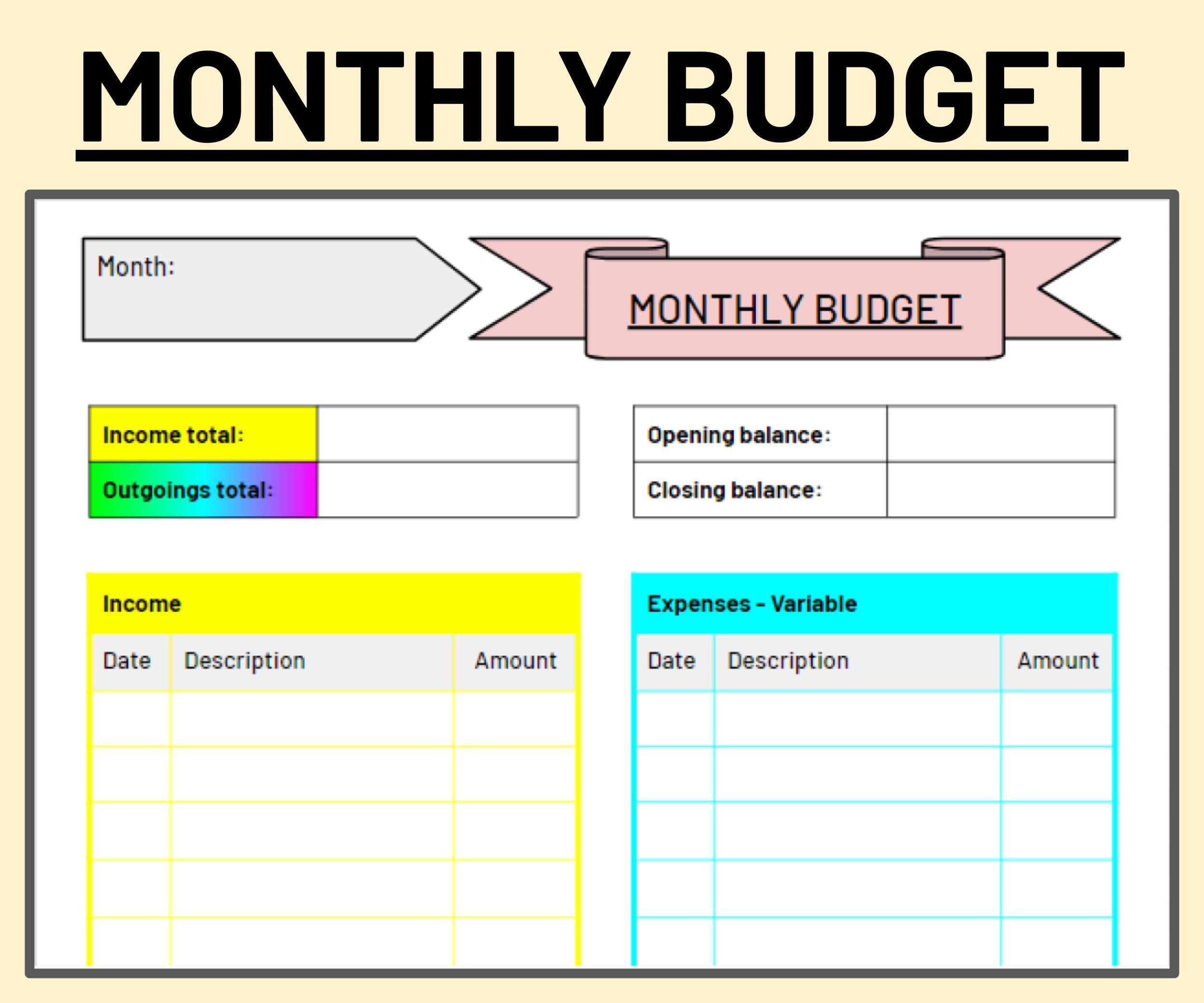 Pin On Budgeting