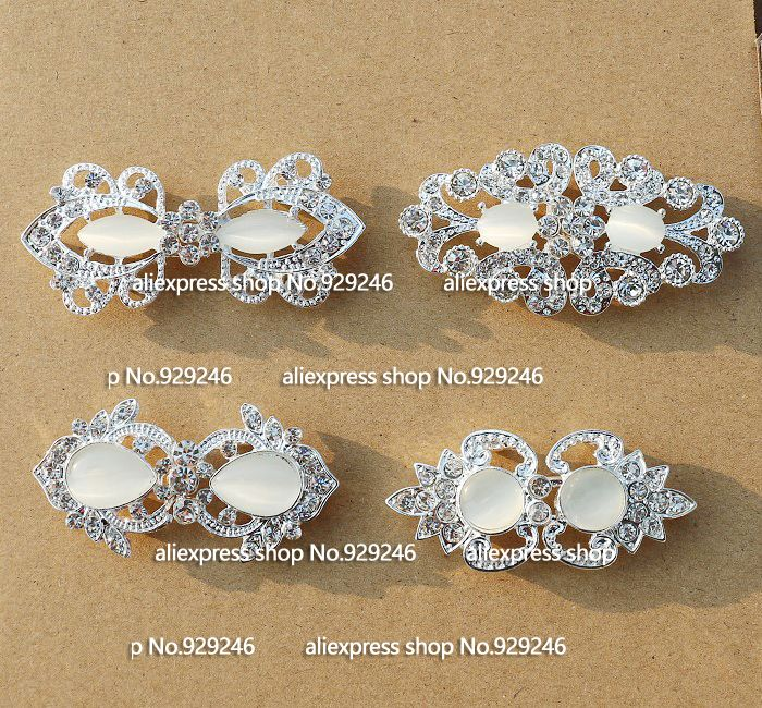 2pcs lot fashion opal rhinestone combined buckle flower butterfly ... 230d2c25ab31