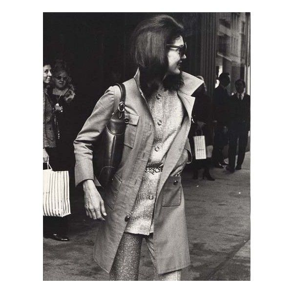 Jacqueline Kennedy Onassis, 1970 found on Polyvore