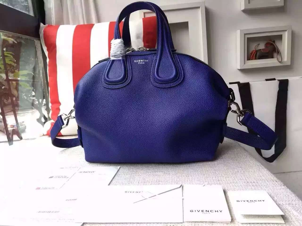 5f09d17237 Spring 2016 Givenchy Collection Outlet-Givenchy Nightingale Bag in Royal  Blue Togo Leather