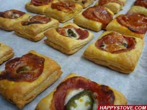Puff Pastry Mini Pizza Snacks Ricetta