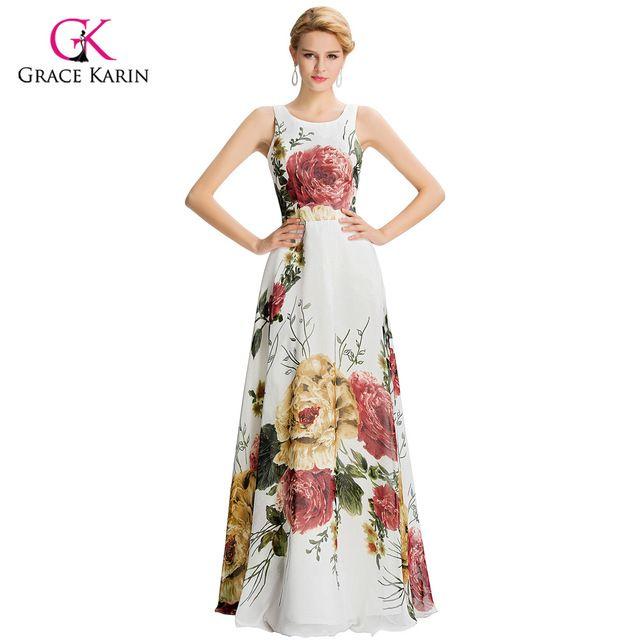 Abendkleid Gnade Karin Vintage Blumendruck Kleider 2016 neue Ankunft ...