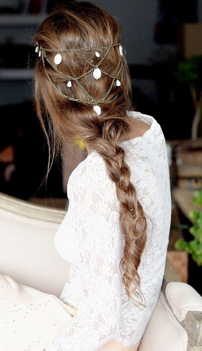 Boho hair chain