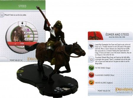 Eomer and Steed #030 (W/ Mount Token) Lord of the Rings Two Towers Heroclix
