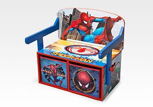 Spiderman Spiderman Delta 3 In 1 Bench Desk Storage Bedroom Mesmerizing Spiderman Bedroom Furniture Decorating Design