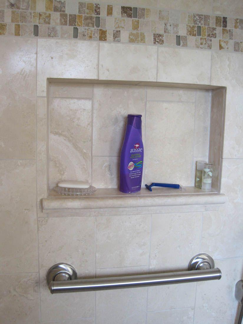 Shower Niche With Grab Bar Bathroom Shelf Decor Shower Niche