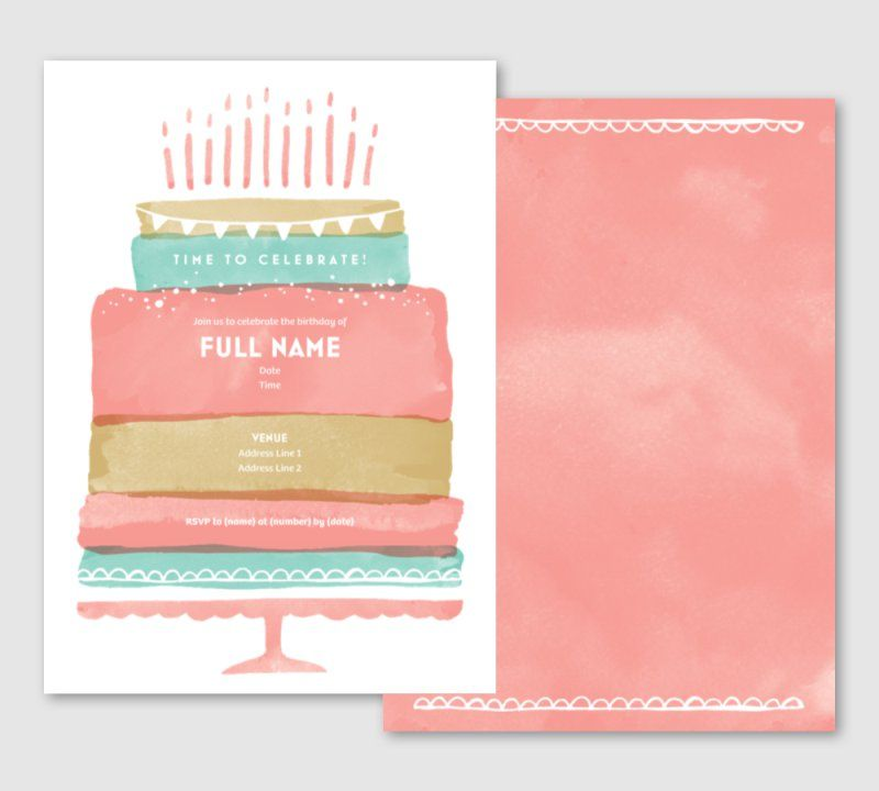 Adult Birthday Invitations And Announcements Templates