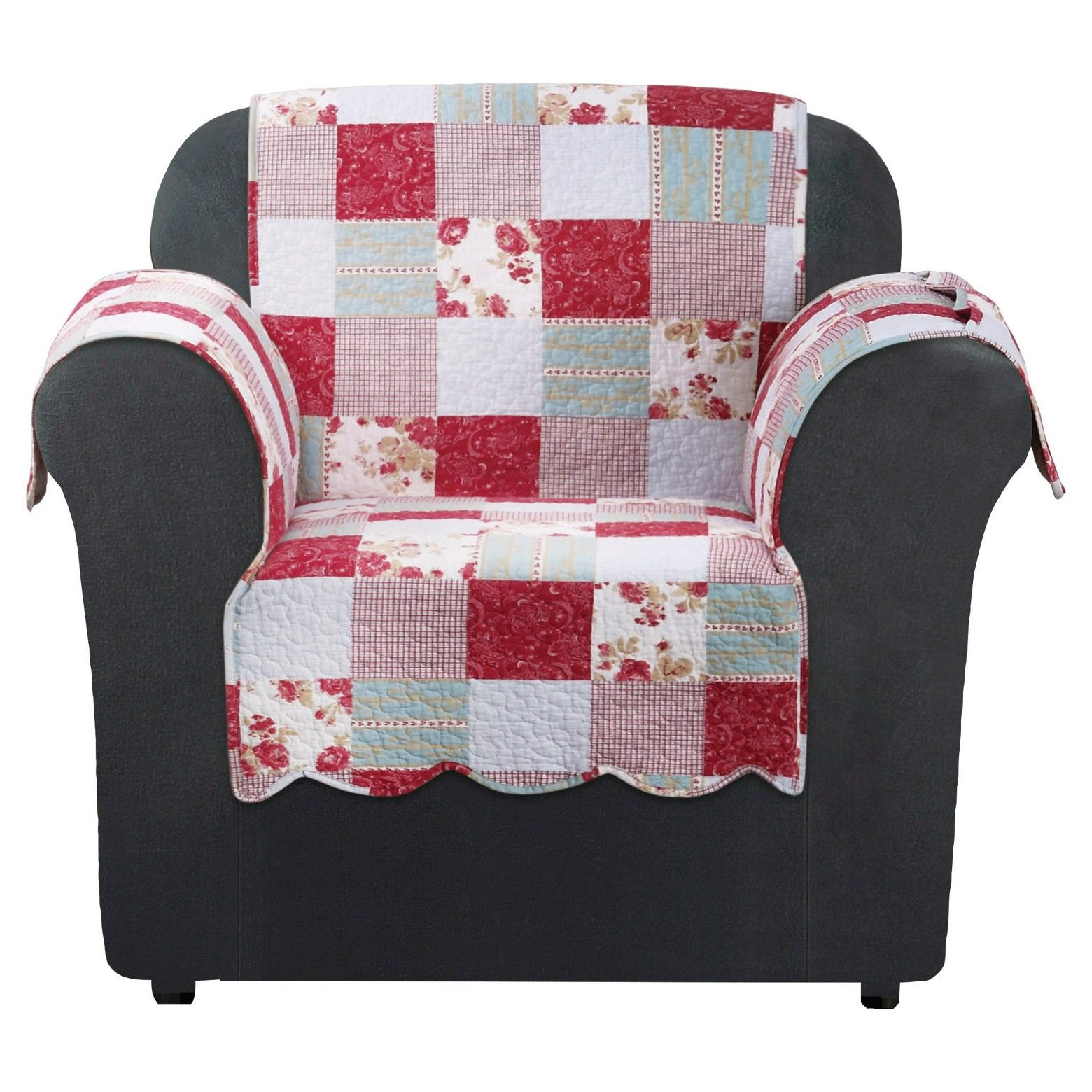 Quilted Lounge Chair Covers Pink Heirloom Cottage Patchwork Chair Furniture Cover Sure