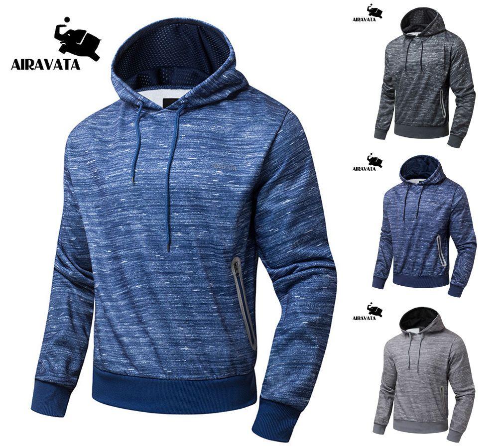 Mens Sports Jogging Outerwear Pullover Hooded Sweatshirt Jacket ...