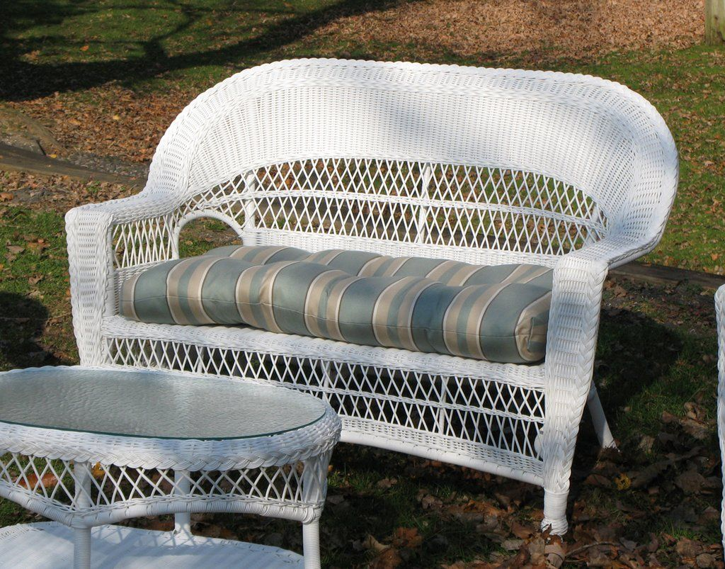 Awe Inspiring Cape Cod Wicker Loveseat Baskets Outdoor Loveseat Ocoug Best Dining Table And Chair Ideas Images Ocougorg