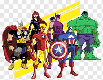 Marvel Avengers Characters Black Widow Captain America Iron Man Thor She Hulk Free Png Avengers Earth S Mightiest Heroes Avengers Cartoon Iron Man Superhero