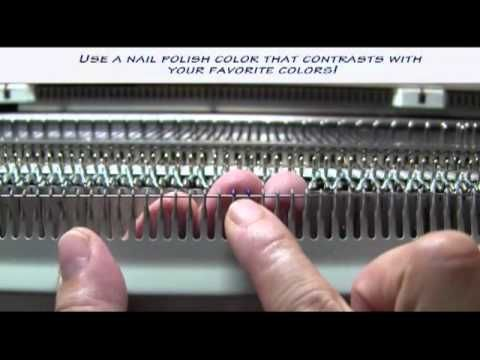 ▷ Centering your Ribber Cast on Comb - YouTube   Machine knitting ...