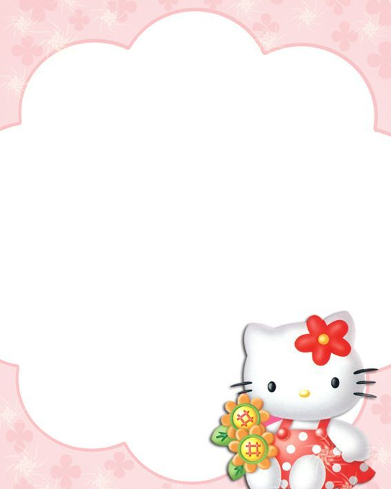 3846594a6015d Hello kitty. | Unlined✒️Decorative Paper | Hello kitty, Boarders ...