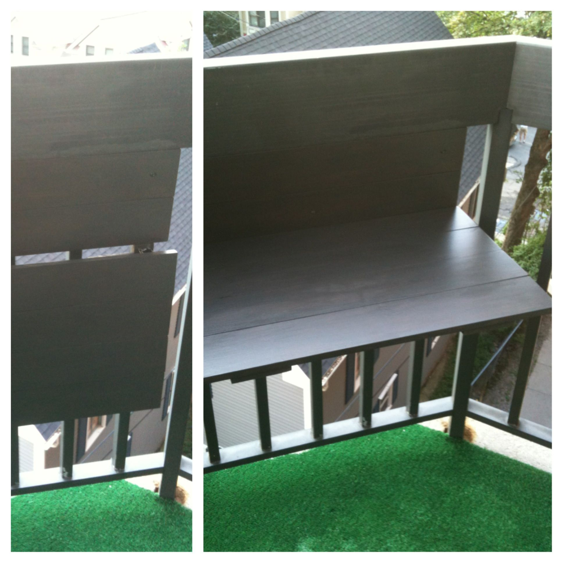 Small Apartment With Foldaway Features: DIY Foldable Balcony Table (Great For Grilling)