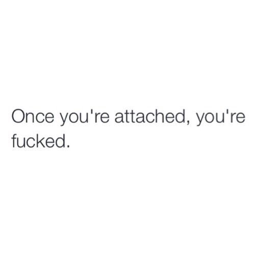 Thats Why I Dont Like Getting Attached To Anybody Or Anything