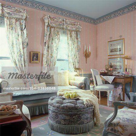 LIVING ROOM - Pretty Living Room. Sofa, hassock, French ...