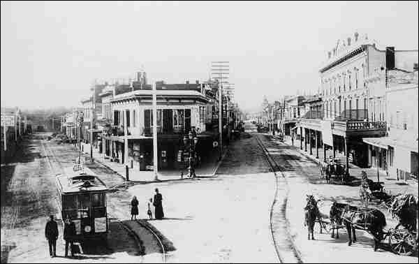 Pacific Ave and Front Street, Santa Cruz, 1892