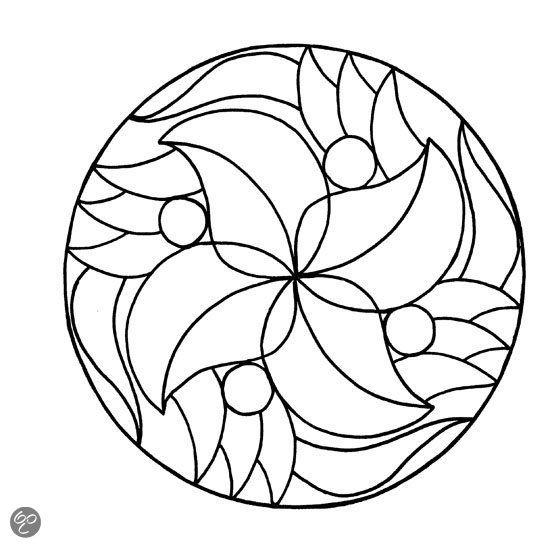 Mandala Kleurplaat Makkelijk