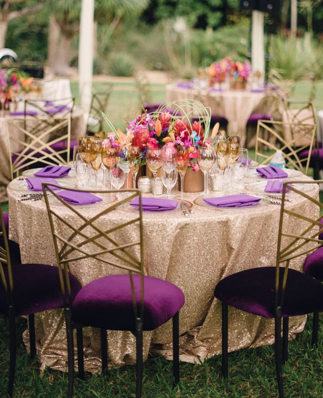 Wonderful 6 Seriously Pretty Wedding Table Linen Ideas (By Style!): For An  Over The Top Glam Weddingu2026Try Sequins