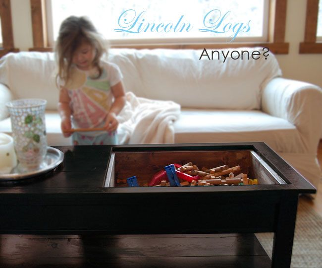 Coffee/Lego Table... The Top Is Removable And Can Be Flipped Over