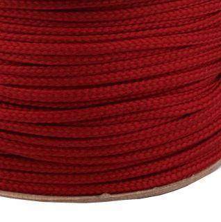 Šnúra 4 mm - červená tmavá