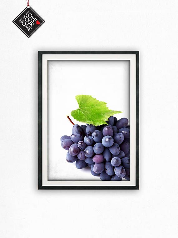 Grapes Wall Art Kitchen Wall Art Wall Decor Printable Wall | images ...